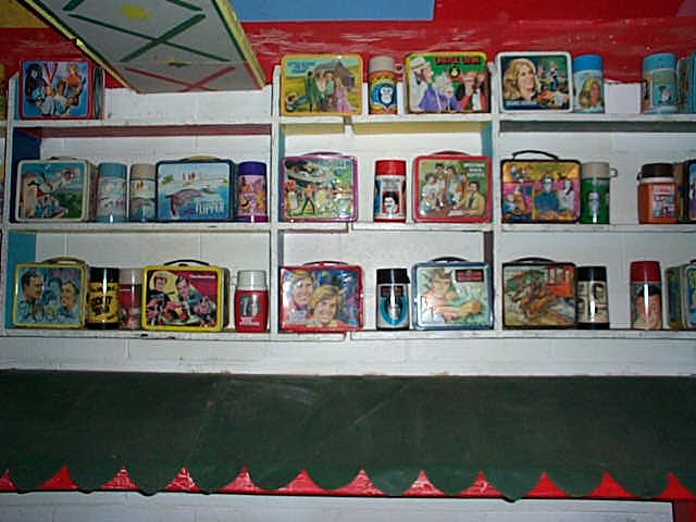 Lunch Boxes on Wall